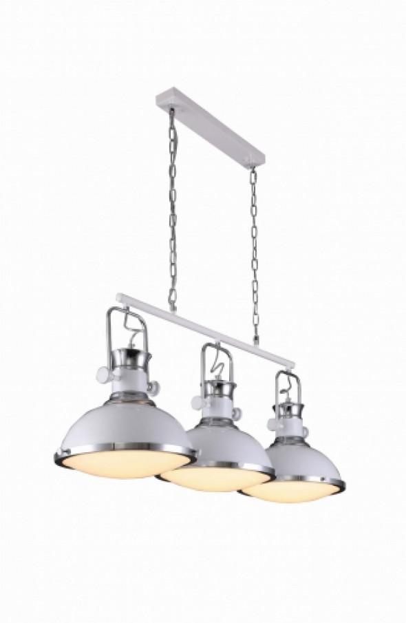 LAMPA WISZACA POTROJNA LOFT BIALA BATORE W3