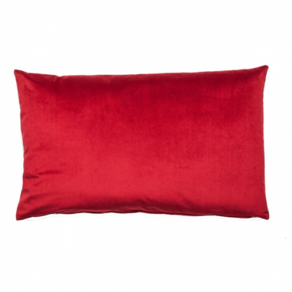 Nieprzeciętna aksamitna poduszka RED HEARD Bordowa