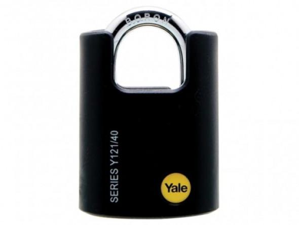 Y121/40/125/1 Kłódka z chronionym pałąkiem ze stali borowej Yale