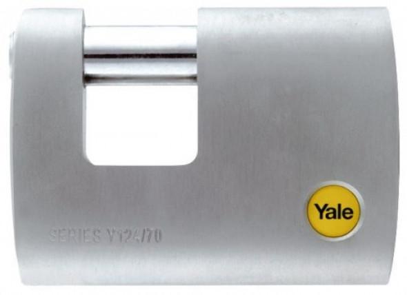 Y124/70/115/1 Mosiężna kłódka trzpieniowa Yale