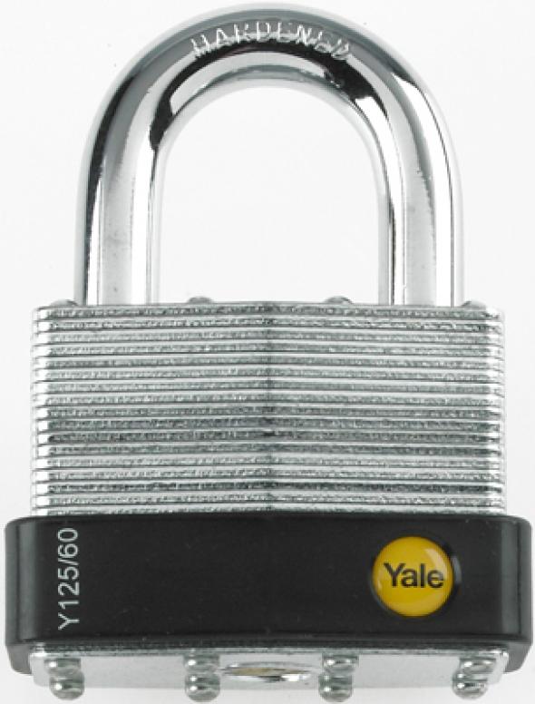 Y125/60/133/1 Kłódka z korpusem ze stali laminowanej Yale