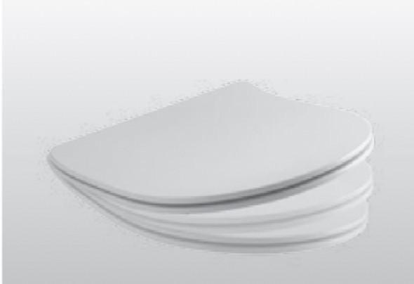 Kerasan deska slim wolnoopadająca Flo biała zawiasy chrom 3191